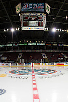 KELOWNA, CANADA - SEPTEMBER 24: Centre ice on September 24, 2016 at Prospera Place in Kelowna, British Columbia, Canada.  (Photo by Marissa Baecker/Shoot the Breeze)  *** Local Caption *** Centre ice;