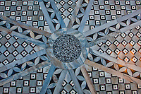 Detail of a lovely mosaic tile floor in St. Mark's Basilica, Venice, Italy.