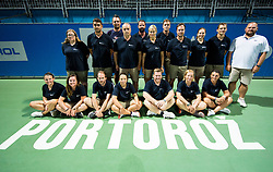 Referees after the Final Singles match at Day 9 of ATP Challenger Zavarovalnica Sava Slovenia Open 2018, on August 11, 2018 in Sports centre, Portoroz/Portorose, Slovenia. Photo by Vid Ponikvar / Sportida
