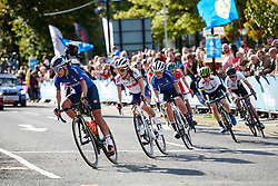 Lizzie Deignan (GBR) in the chase group at UCI Road World Championships 2019 Women's Elite Road Race a 149.4 km road race from Bradford to Harrogate, United Kingdom on September 28, 2019. Photo by Sean Robinson/velofocus.com