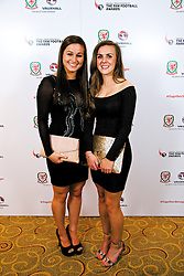 CARDIFF, WALES - Monday, October 6, 2014: Wales' Megan Wynne and Georgia Evans at the FAW Footballer of the Year Awards 2014 held at the St. David's Hotel. (Pic by David Rawcliffe/Propaganda)