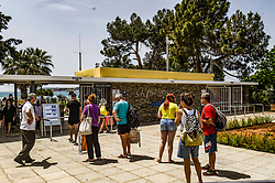 People waiting on the line to enter a beach during the official reopening of organized beaches to the public in Athens on May 16, 2020. Hundreds of organized beaches opened to th​e public on 16 May, though they are to operate subject to strict health and safety guidelines due to the coronavirus pandemic, amid forecasts of a rec​ord heat wave<br /> <br /> Pictured: <br /> Dimitris Lampropoulos  | EEm date