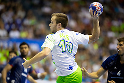 Marko Kotar of Slovenia during handball match between National teams of France and Slovenia in Final of 2018 EHF U20 Men's European Championship, on July 29, 2018 in Arena Zlatorog, Celje, Slovenia. Photo by Urban Urbanc / Sportida