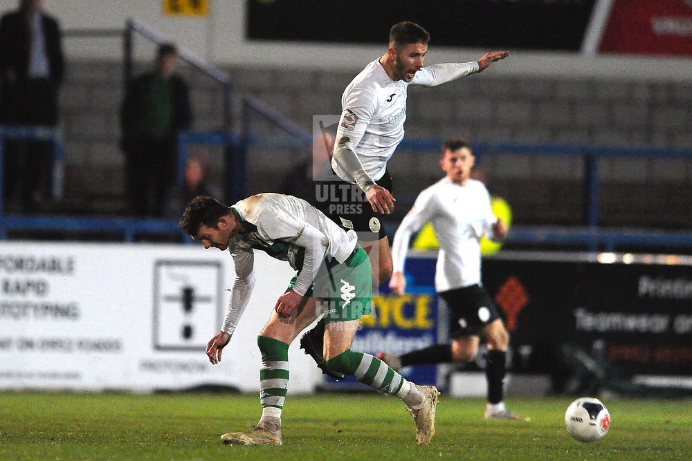 TELFORD COPYRIGHT MIKE SHERIDAN Zak Lilly of Telford during the Vanarama Conference North fixture between AFC Telford and Farsley at the New Bucks head Stadium on Saturday, December 7, 2019.<br /> <br /> Picture credit: Mike Sheridan/Ultrapress<br /> <br /> MS201920-033