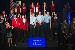 The 2017 SkillsUSA National Leadership and Skills Conference Competition Medalists were announced Friday, June 23, 2017 at Freedom Hall in Louisville. <br /> <br /> Automotive Service Technology<br /> <br /> 	Kevin Vasquez<br />   High School	 Norwich Technical High School<br />   Gold	 Norwich, CT<br /> Automotive Service Technology	Joshua Wilhelm<br />   High School	 Washburn Tech<br />   Silver	 Topeka, KS<br /> Automotive Service Technology	Paul Blair<br />   High School	 Butler County Area Vo-Tech School<br />   Bronze	 Butler, PA<br /> Automotive Service Technology	Jacob Greene<br />   College	 Parkland College<br />   Gold	 Champaign, IL<br /> Automotive Service Technology	Paul Danenberg<br />   College	 College of Southern Idaho<br />   Silver	 Twin Falls, ID<br /> Automotive Service Technology	Philip Albrecht<br />   College	 Arapahoe Community College<br />   Bronze	 Littleton, CO