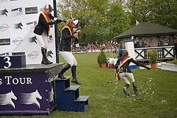 Hough Lauren (USA), Alexander Edwina (AUS), Kraut Laura (USA)<br /> Global Champions Tour von Deutschland<br /> Derby of Hamburg 2010<br /> © Dirk Caremans