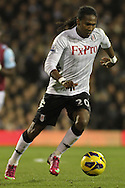 Picture by David Horn/Focus Images Ltd +44 7545 970036.30/01/2013.Hugo Rodallega of Fulham during the Barclays Premier League match at Craven Cottage, London.