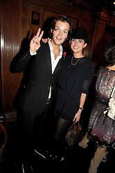 GORDON MARTIN and TALLULAH RUFUS-ISAACS at the Tatler Magazine Little Black Book party at Tramp, 40 Jermyn Street, London SW1 on 5th November 2008.
