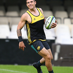 DURBAN, SOUTH AFRICA - MAY 06: TJ Perenara (vc) during the Hurricanes Captains run at Growthpoint Kings Park on May 06, 2016 in Durban, South Africa. (Photo by Steve Haag/Gallo Images)