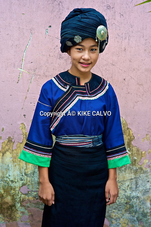 Teen wearing a Ho traditional dress.