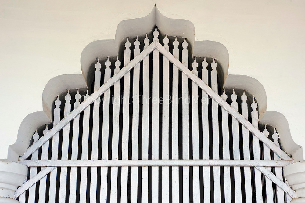 Mosque Interior. Thittacheri. Periya Palli Vasal (Masjid)<br /> Tamil Nadu. South India.