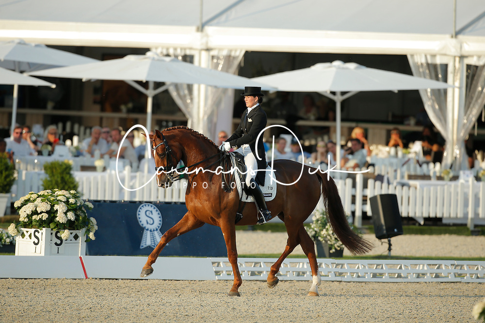 Koppelmann Carola, (GER), Deveraux B<br /> Grand Prix Freestyle Kür<br /> CDIO Hagen 2015<br /> © Hippo Foto - Stefan Lafrentz