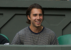 LONDON, ENGLAND - Thursday, June 30, 2011: Sasha Vujacic, boyfriend of Maria Sharapova, during the Ladies' Singles Semi-Final match on day ten of the Wimbledon Lawn Tennis Championships at the All England Lawn Tennis and Croquet Club. (Pic by David Rawcliffe/Propaganda)