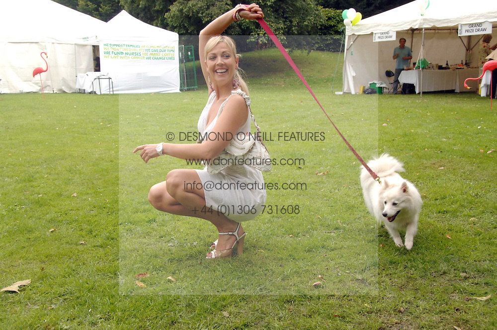 Presenter LIZ FULLER with her dog Amber at Macmillan Dog Day in aid of Macmillan Cancer Support, held at Royal Hospital Chelsea, London on 3rd July 2007.<br />