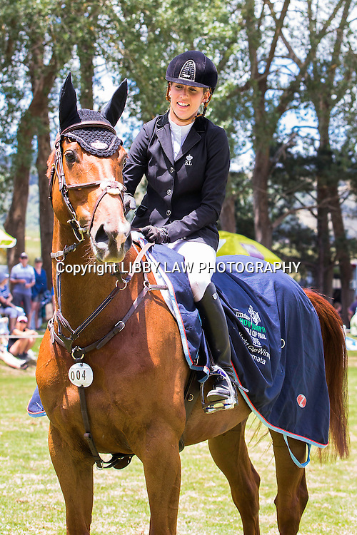 WORLD CUP SERIES TITLE WINNER: NZL-Katie Laurie (DUNSTAN KIWI IRON MARK) 1ST-IMAKE Ultra.Mox World Cup Final: 2015 NZL-IMAKE Showjumping Waitemata World Cup - Woodhill Sands (Sunday 11 January) CREDIT: Libby Law/www.photosport.co.nz