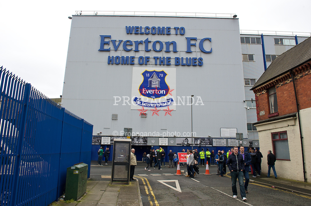 LIVERPOOL, ENGLAND - Sunday, April 6, 2014: A general view outside Everton's Goodison Park. (Pic by Chris Brunskill/Propaganda)