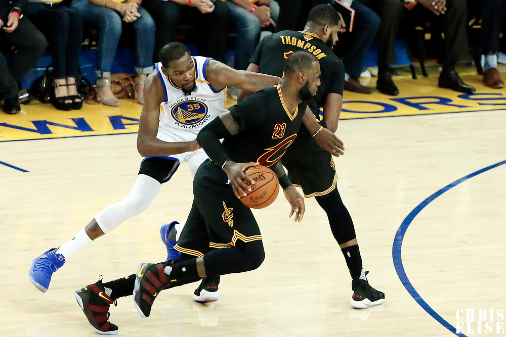 12 June 2017:  during the Golden State Warriors 129-120 victory over the Cleveland Cavaliers, in game 5 of the 2017 NBA Finals, at the Oracle Arena, Oakland, California, USA.