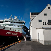 Three weeks aboard the Kong Harald. Hurtigruten, the Coastal Express. Stamsund in the Lofotens.