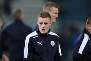 Leicester City forward Jamie Vardy (9)  during the Barclays Premier League match between Leicester City and Newcastle United at the King Power Stadium, Leicester, England on 14 March 2016. Photo by Simon Davies.