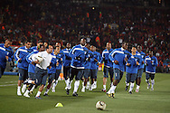 21 JUN 2010: Honduras players warm up before the game. The Spain National Team defeated the Honduras National Team 2-0 at Ellis Park Stadium in Johannesburg, South Africa in a 2010 FIFA World Cup Group H match.