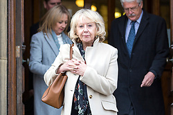 © Licensed to London News Pictures. 13/11/2017. Wakefield UK. Shelia Connor sister of Ann Maguire at Wakefield Coroners Court today. The inquest into the death of Leeds teacher Ann Maguire is starting today at Wakefield Coroners Court. Mrs Maguire, a 61 year old Spanish teacher, was stabbed to death by Will Cornick at Corpus Christi Catholic College in Leeds in April 2014. The school pupil, who was 15 at the time, admitted murdering Mrs Maguire and was given a life sentence later that year. Since then, some of Mrs Maguire's family have campaigned for further investigation into her death as they believe more could have been done to prevent the tragedy. Photo credit: Andrew McCaren/LNP