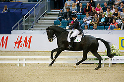 Reynolds Judy, (IRL), Vancouver K<br /> Grand Prix Freestyle<br /> Reem Acra FEI World Cup Dressage Final II<br /> © Dirk Caremans