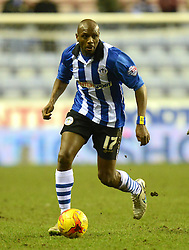 Wigan Athletic's Emmerson Boyce in action - Photo mandatory by-line: Richard Martin-Roberts/JMP - Mobile: 07966 386802 - 24/02/2015 - SPORT - Football - Wigan - DW Stadium - Wigan Athletic v Cardiff City - Sky Bet Championship