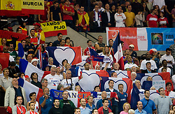 Fans of France and Spain during the EuroBasket 2009 Quaterfinals match between Spain and France, on September 17, 2009 in Arena Spodek, Katowice, Poland.  (Photo by Vid Ponikvar / Sportida)