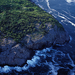 Acadia N.P., ME. Aerial. The cliffs of Great Head.