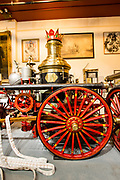 A horse-drawn steam fire engine made by the La Fance company, Elmira, New York, in 1901. This engine, in the New York City Fire Museum,  was used in Brooklyn.
