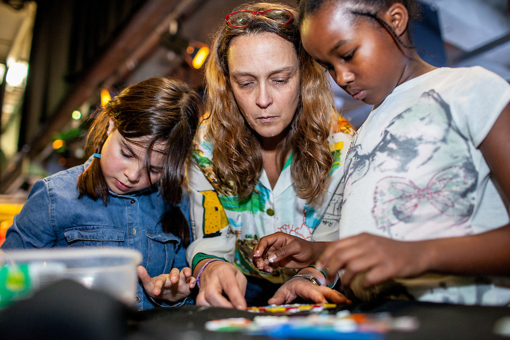 Mosaic workshop during The Royal African Society's Annual Film Festival 2016 at Rich Mix. London, Saturday 5 November 2016. (Photos/Ivan Gonzalez)