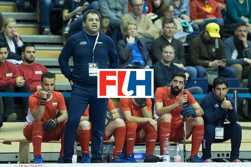 Hockey, Seizoen 2017-2018, 09-02-2018, Berlijn,  Max-Schmelling Halle, WK Zaalhockey 2018 MEN, Iran - Czech Republic 2-2 Iran Wins after shoutouts,