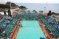Illustration Court Central Bache - Interruption a cause de la pluie - 19.04.2015 - Tournoi de Monte Carlo 2015 - Masters 1000 <br />