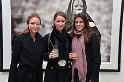 Left to right, ANNA MATTHEWS, GEORGINA RYLANCE and CAMILLA MABBOTT at a private view of photographs by wildlife photographer David Yarrow included in his book 'Encounter' held at The Saatchi Gallery, Duke of York's HQ, King's Road, London on 13th November 2013.
