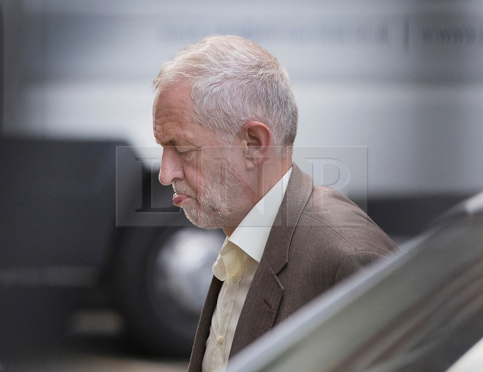 © Licensed to London News Pictures. 12/09/2016. London, UK. Labour Leader Jeremy Corbyn MP walks into Parliament. Mr Corbyn was elected to the leadership one year ago today. Photo credit: Peter Macdiarmid/LNP