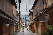 Geisha, in geisha's distric of Miyagawacho.Kyoto. Kansai, Japan.