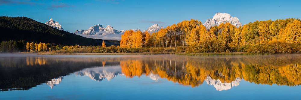 Reflections on the Snake River in the fall in the Tetons. Grand Teton National Park.  Limited Edition - 75