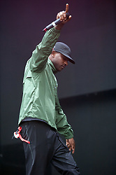 © Licensed to London News Pictures. 03/09/2016. Bristol, UK. SKEPTA plays on the main stage at the Massive Attack music event on Bristol Downs. Photo credit : Simon Chapman/LNP