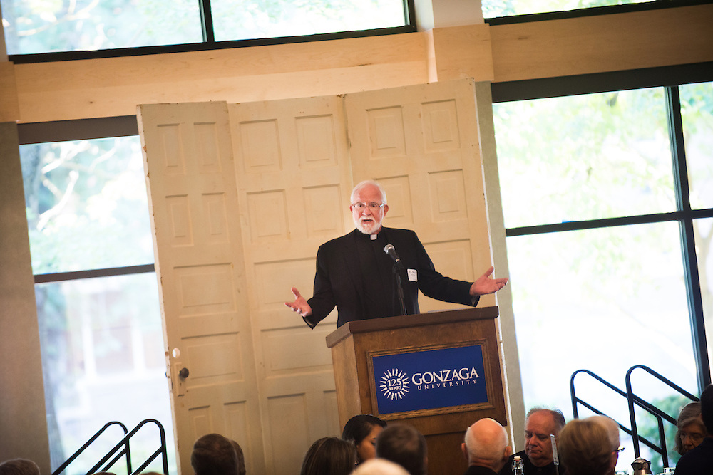 Honored guests kick off the Historic First Day of Classes, and the beginning of Gonzaga's 125th year.<br /> <br /> Photo by Rajah Bose