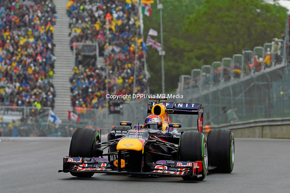 MOTORSPORT - F1 2013 - GRAND PRIX OF CANADA - MONTREAL (CAN) - 07 TO 09/06/2013 - PHOTO ERIC VARGIOLU / DPPI VETTEL SEBASTIAN (GER) - RED BULL RENAULT RB9 - ACTION