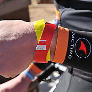 As riders progressed along the Gran FUNdo route, they would earn additional wristbands. The colors reflected the distance ridden.