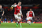 Arsenal Defender Hector Bellerin (24) in action during the Europa League match between Arsenal and CSKA Moscow at the Emirates Stadium, London, England on 5 April 2018. Picture by Stephen Wright.