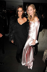 Left to right, DONNA KARAN and JOELY RICHARDSON at The Love Ball hosted by Natalia Vodianova and Lucy Yeomans to raise funds for The Naked Heart Foundation held at The Round House, Chalk Farm, London on 23rd February 2010.