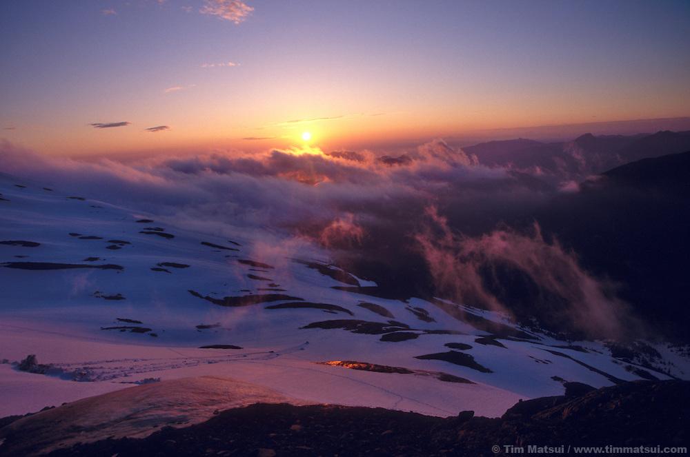 The lower slopes of Mt. Baker, Washington.