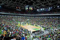Arena during friendly basketball match between National Teams of Slovenia and Brasil at Day 2 of Telemach Tournament on August 22, 2014 in Arena Stozice, Ljubljana, Slovenia. Photo by Vid Ponikvar / Sportida