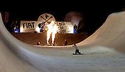 © Filippo Alfero<br /> Bardonecchia (TO), 17/02/2007<br /> Sport, Snowboard<br /> Rock the Spot - half pipe notturno<br /> Nella foto: uno dei riders in azione