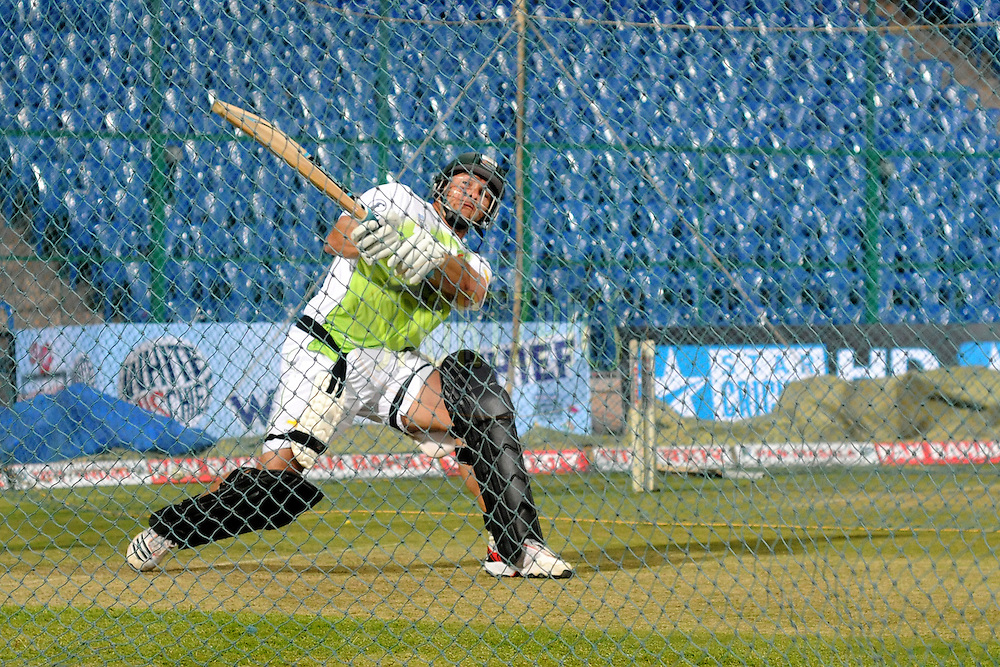 Mark Boucher of Warriors during the Warriors training and nets session held at the  M.Chinnaswamy Stadium in Bangalore , Karnataka, India on the 22nd September 2011..Photo by Pal Pillai/BCCI/SPORTZPICS
