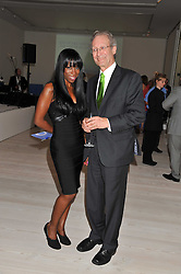 HEATHER SMALL and JEREMY RAPHAELY Founder and Director of The Kensington and Chelsea Foundation at a fundraising party hosted by the Kensington and Chelsea Foundation at The Saatchi Gallery, Kings Road, London on 27th September 2011.