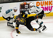 The Vegas Golden Knights against the San Jose Sharks during the third period of the NHL playoff game Thursday, April 26, 2018, in Las Vegas. Photo by L.E. Baskow