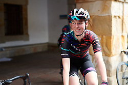 Alice Barnes (GBR) makes her way to the start line at Emakumeen Bira 2018 - Stage 1, a 108 km road race starting and finishing in Legazpi, Spain on May 19, 2018. Photo by Sean Robinson/Velofocus.com